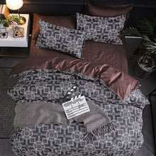 Load image into Gallery viewer, Claroom Comforter Bedding set Classical Bed Linings Concise Style Bedding Set Quilt Cover Pillowcase Cover Bed 3pcs/set EF59#