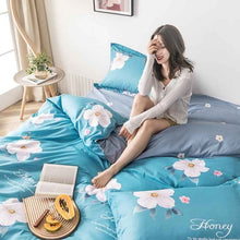 Load image into Gallery viewer, 3/4pcs modern bedding set Super king size bed linens reactive printing duvet cover set pastoral style home bed set flat sheet