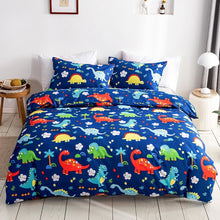 Load image into Gallery viewer, 2020 Cartoon Dinosaur Bed Linings Concise Style Bedding Set Quilt Cover Pillowcase Cover Bed 3pcs/set