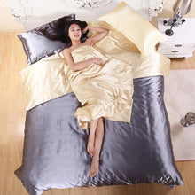 Load image into Gallery viewer, Pure Satin Silk Bedding Set Bed Sheets Luxury Duvet Cover High Quality Comforters Sets Comforter Bed Linen