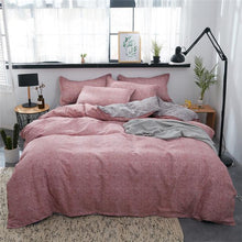 Load image into Gallery viewer, 3/4Pcs/Set Cartoon Pink Bedding Sets Geometric Pattern Bed Linings 5 sizes Leopard Duvet Cover Bed Sheet Pillowcases Cover Set