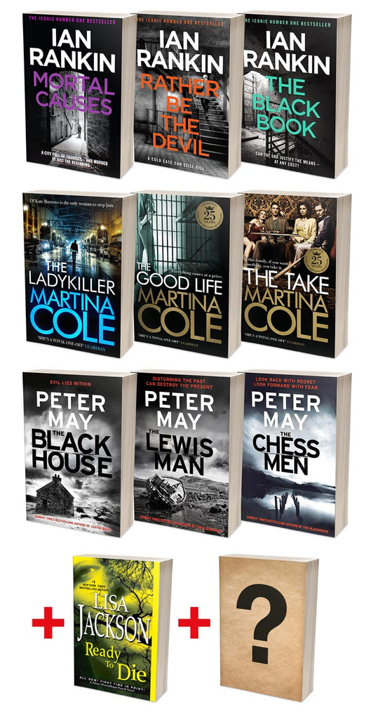 Ian Rankin Best of Rebus + Martina Cole Ladykillers + Peter May Lewis Trilogy Bundles (MT34F + MT35F + MT36F)