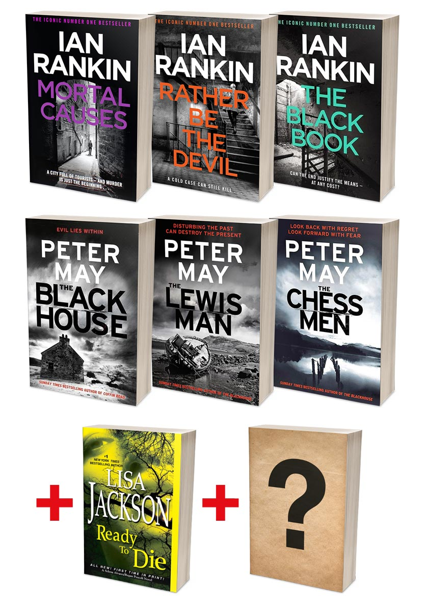 Ian Rankin Best of Rebus + Peter May Lewis Trilogy Bundles  (MT34F + MT36F)
