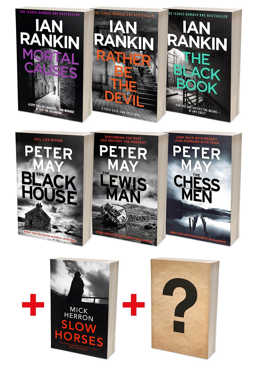 Ian Rankin Best of Rebus + Peter May Lewis Trilogy Bundles  (MT34G + MT36G)