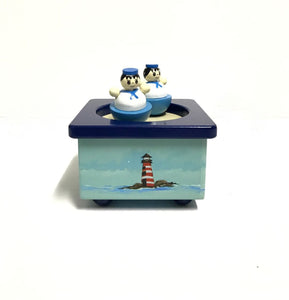 WOODEN MAGNETIC MUSIC BOX - SAILOR