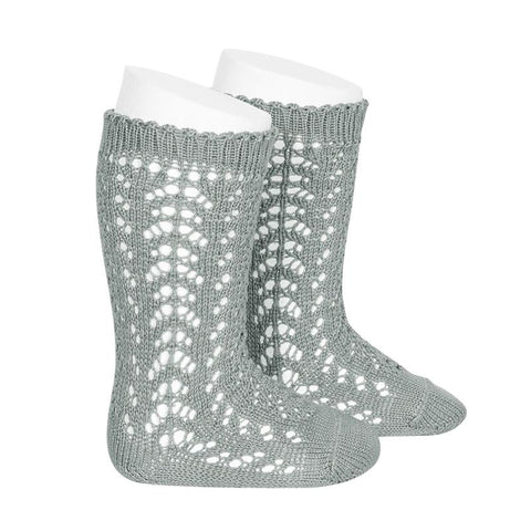 FULL OPENWORK KNEE HIGH SOCK - DRY GREEN