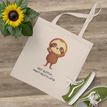 "Load image into Gallery viewer, ""FELT SLOTHY...MIGHT DELETE LATER"" TOTE BAG"