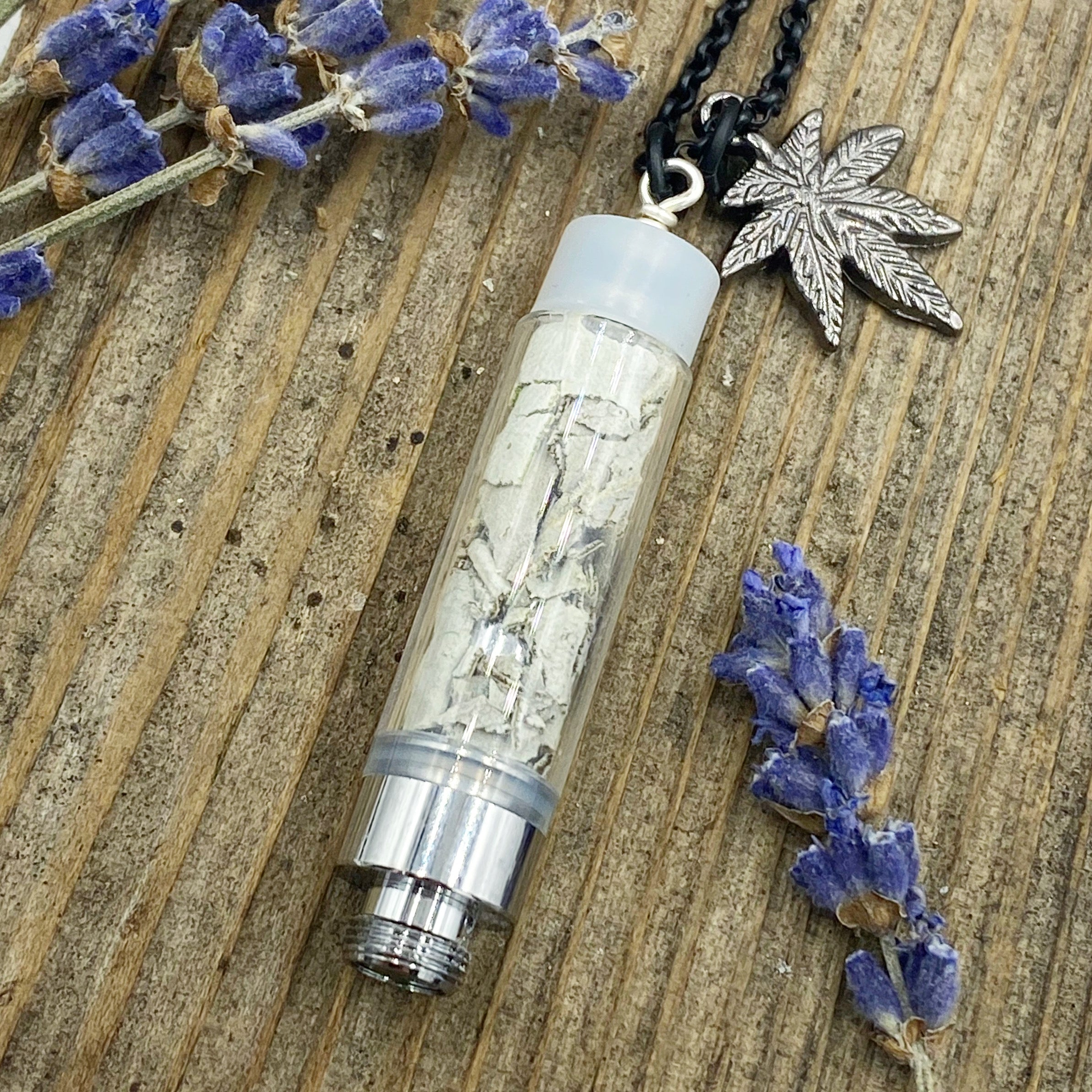 Handcrafted Upcycled Eco-Friendly Sage Pendant Long Necklace