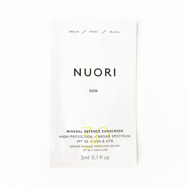 MINERAL DEFENCE SUNSCREEN / SACHET Sample Nuori 3ml