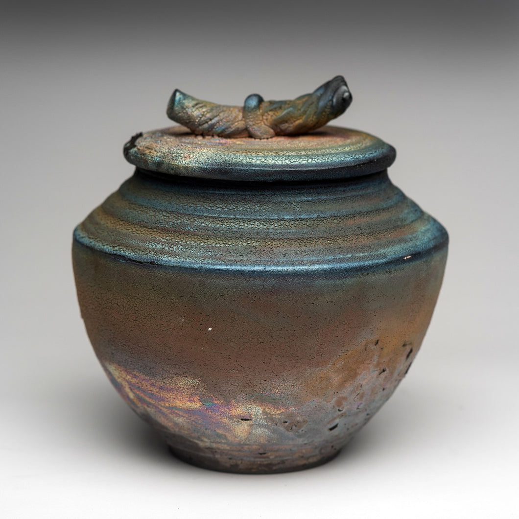 Decorative Raku Jar by Lynda Smith LYNDA176