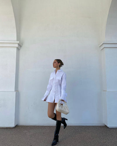 De La Muze, White Shirt Dress, Image 1