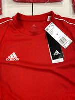 Adidas Unisex Youth Core 18 Red Training Jersey (x50)