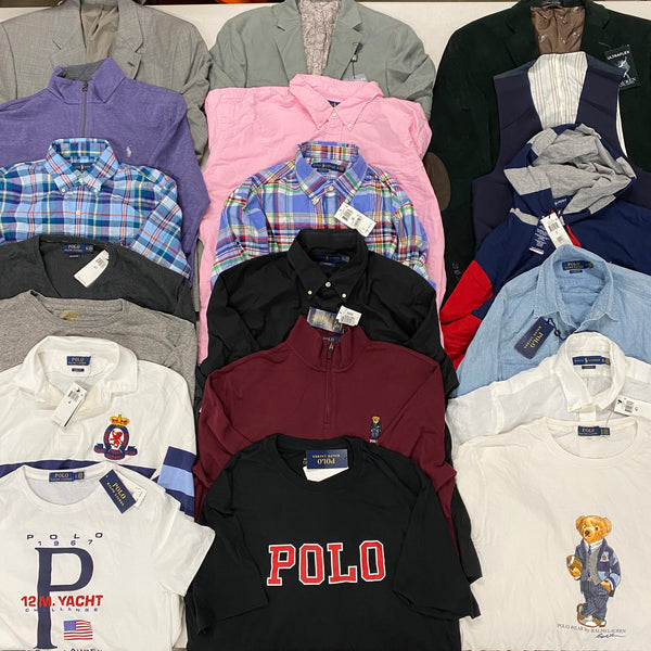 Polo Ralph Lauren Men Tops, CLEAN Customer Returns (x43)