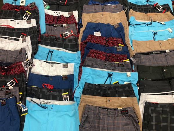 Men Swim & Board Shorts, Shelf Pulls (x50)