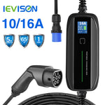 Type 2 EV Charger Level 2 32 Amp Portable Electric Vehicle Charger CEE Plug 220V-240V  EVSE Car Charging Cable, IEC 62196-2