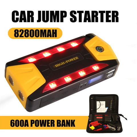 50800mAh 12 V 600 A Multi-function Jump Starter USB Portable Power Bank Car Battery Booster Charger Starting Device