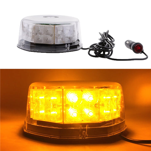 32 LED Round Car Truck Roof Emergency Flashing light Police LED Warning Strobe lights Beacon 12V Car safety signal lamp