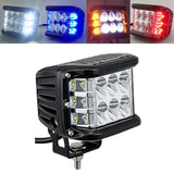"Light Bar/Work Light Side Shooter 4""Inch LED Pods Work Light Bar White & Amber Strobe Lamp Combo For ATV SUV TRUCK"