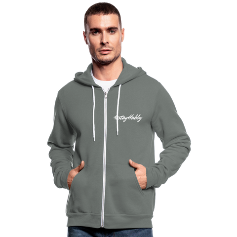 Lieblings-Zipper-Hoodie #stayHabby - grey