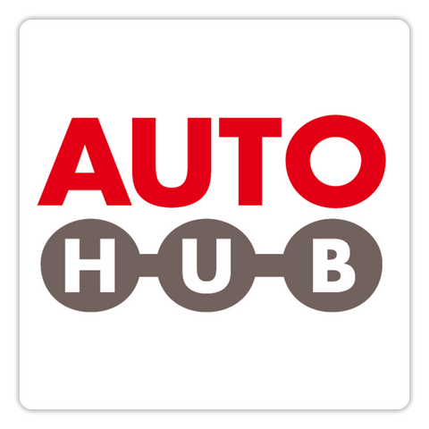 Autohub-Sticker im Quadrat - white glossy