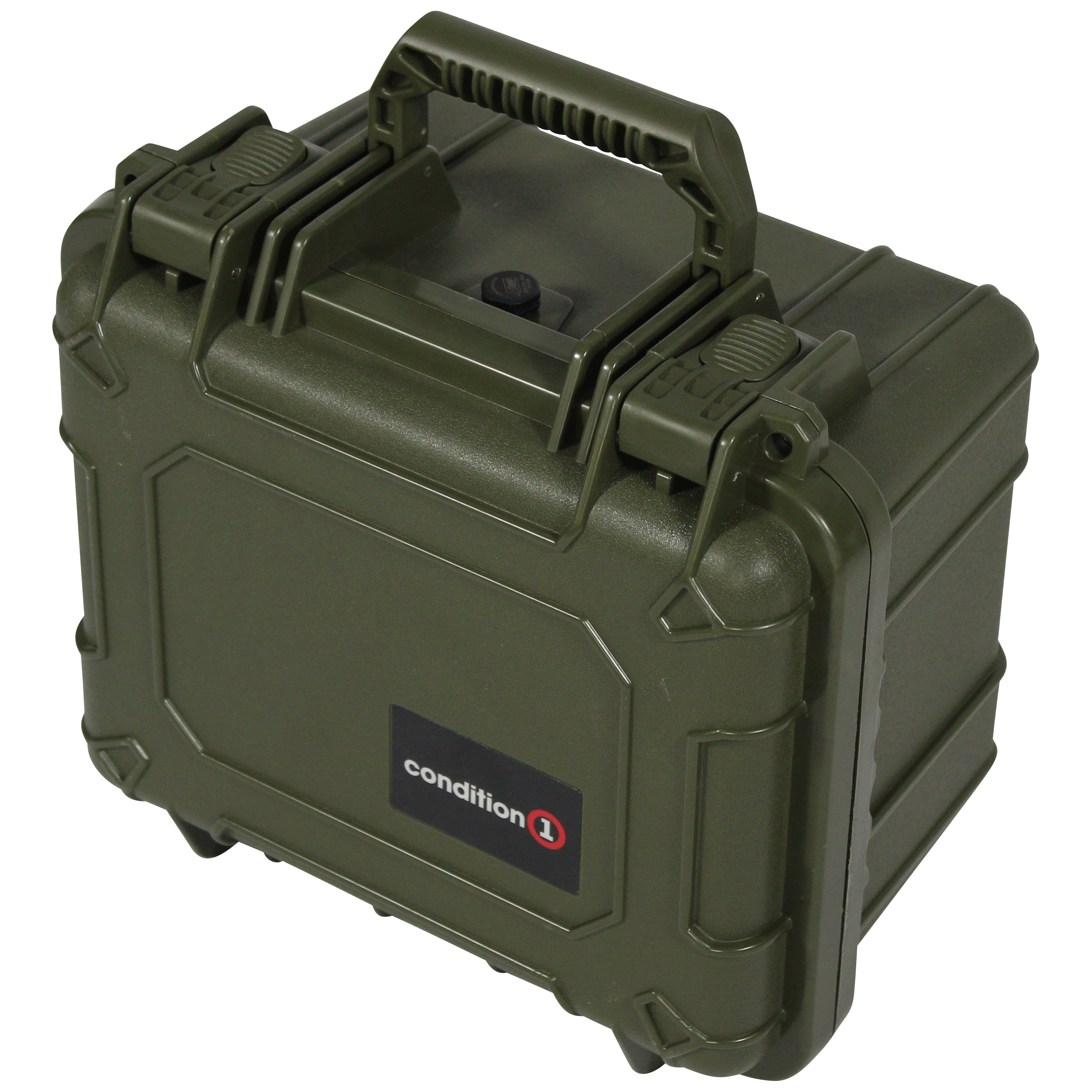 "Load image into Gallery viewer, side look of the 11"" Small Carrying Case #185 green model"