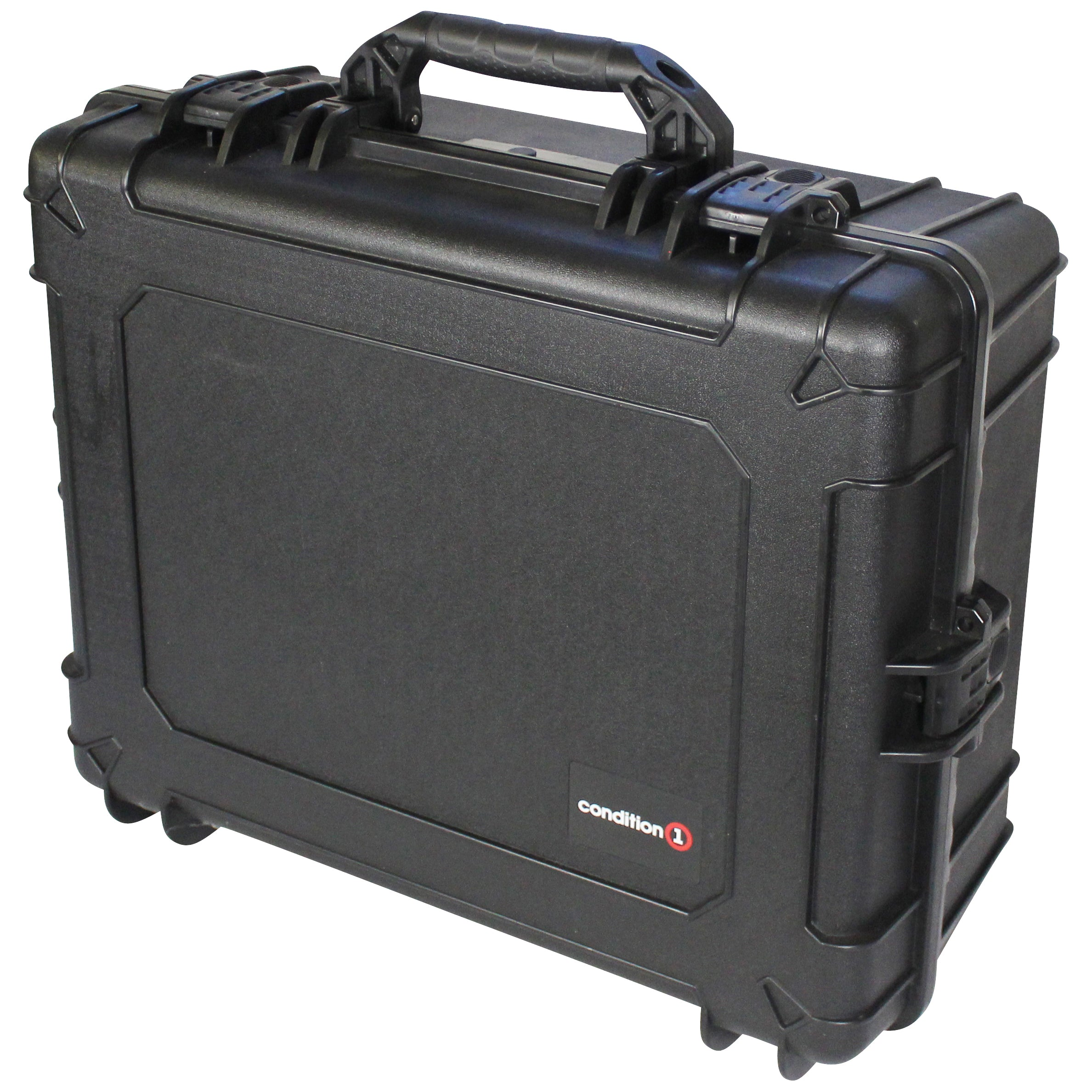 "Load image into Gallery viewer, 25"" XL Hard Case Trunk #289 black model up right"