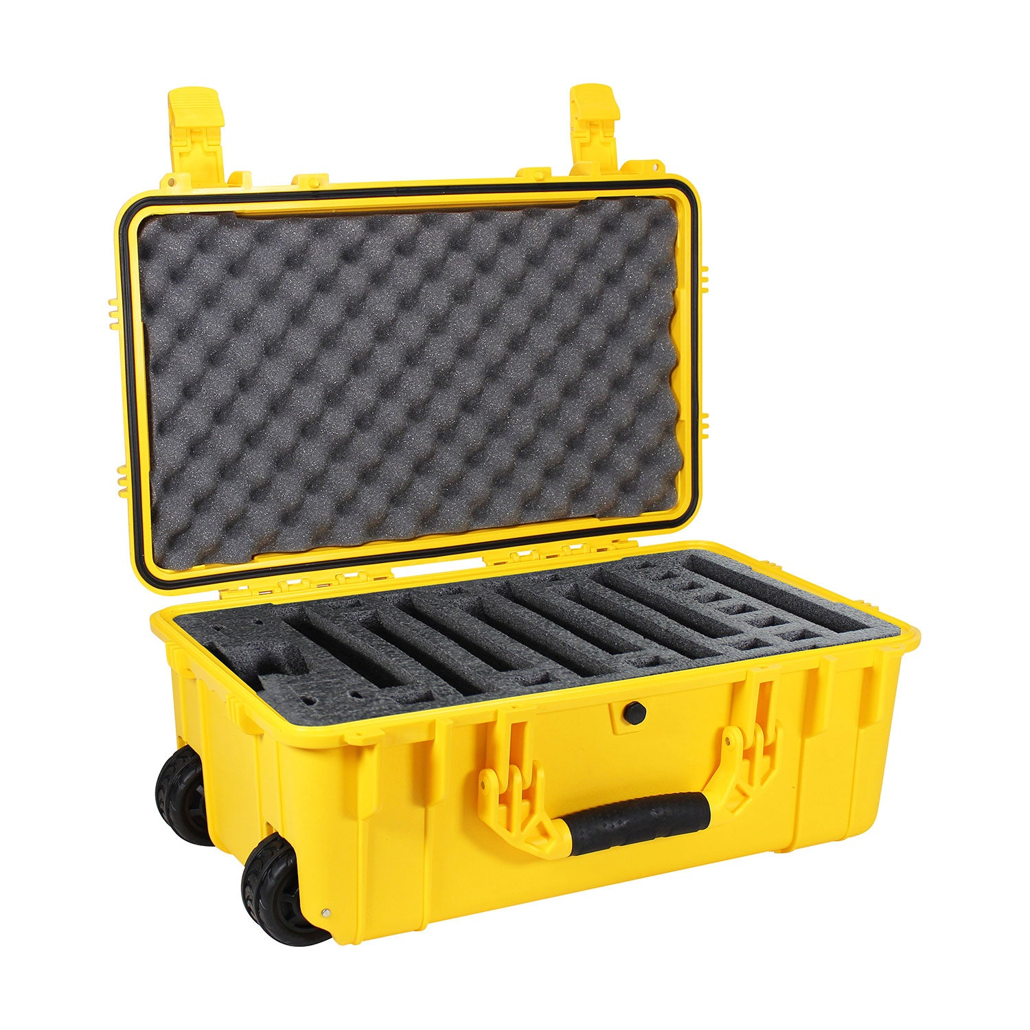 "Load image into Gallery viewer, 22"" Rolling Travel Hard Case #300 with 7 Slot Pre-cut Foam"
