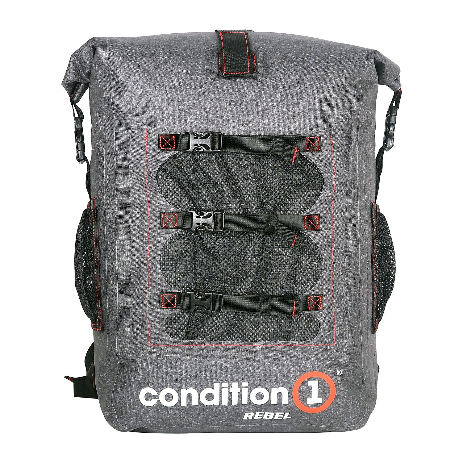 Load image into Gallery viewer, front look of the 30L Dry-Bag with Front Net Pouch