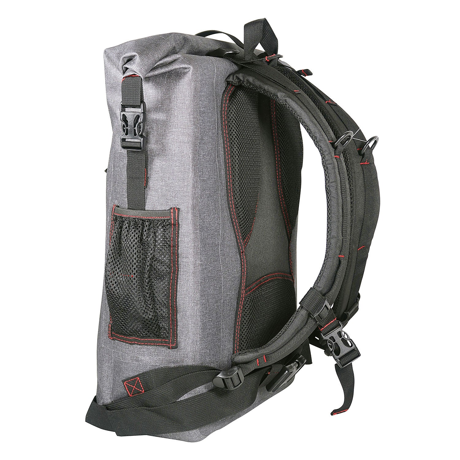 Load image into Gallery viewer, back look of the 30L Dry-Bag with Front Net Pouch