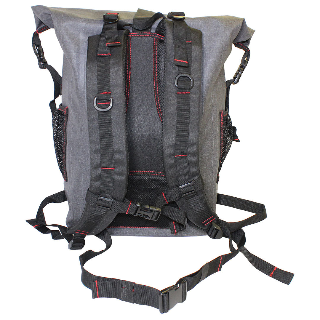 back of the 30L Dry-Bag with Front Zippered Pocket