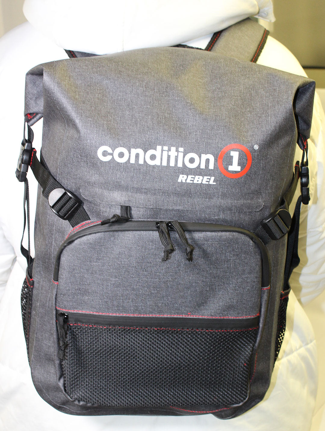 front look of the 30L Dry-Bag with Front Zippered Pocket