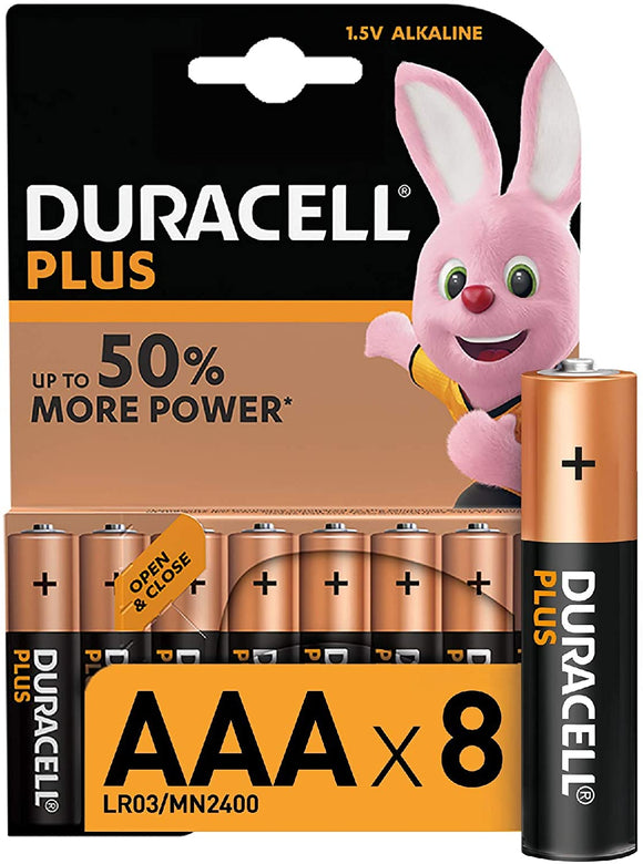 Duracell Plus AAA Alkaline Batteries