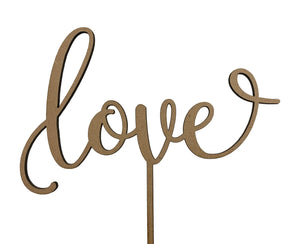 Love Wooden topper