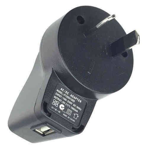AU WALL PLUG WITH USB PORT (AU PLUG)