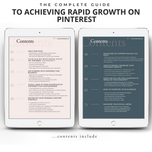 The Complete  Guide To Achieving Rapid Growth On  Pinterest | Colab Collective | For Influencers, Entrepreneurs & Brands | Contents Page