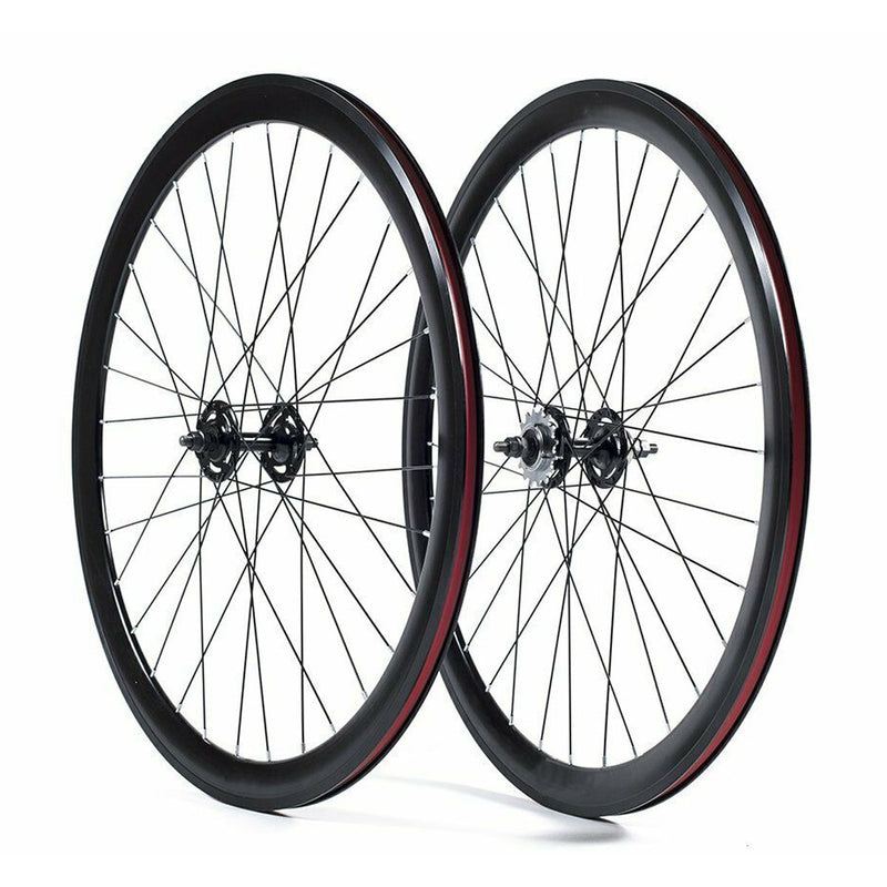 40mm Deep V Fixie Wheel Set - Single Speed Cycles