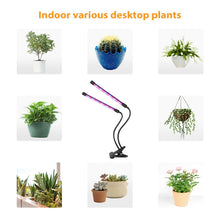 Load image into Gallery viewer, Led Plant Growth Light 5 Gears Dimming Timed Waterproof USB Three-Head Clip Plant Light (5931494244508)