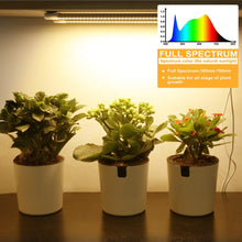 Load image into Gallery viewer, LED Plant Grow Light Strips Full Spectrum for Indoor Plants with Auto ON & Off Timer,48 LEDs / 4 Dimmable Levels,20W Sunlike Grow Lamp for House Garden Hydroponics Succulent, Two Pack (6031957000348)