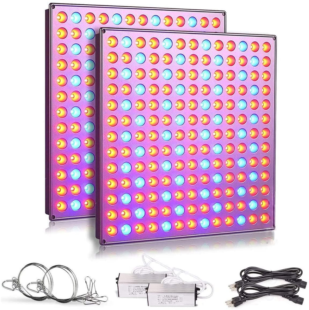 LED Grow Lights for Indoor Plants, 75w Plant Lights with Red & Blue Spectrum Grow Lamp for Hydroponic, Seedling, Succulents, Veg and Flower (2 Packs) (6032498426012)