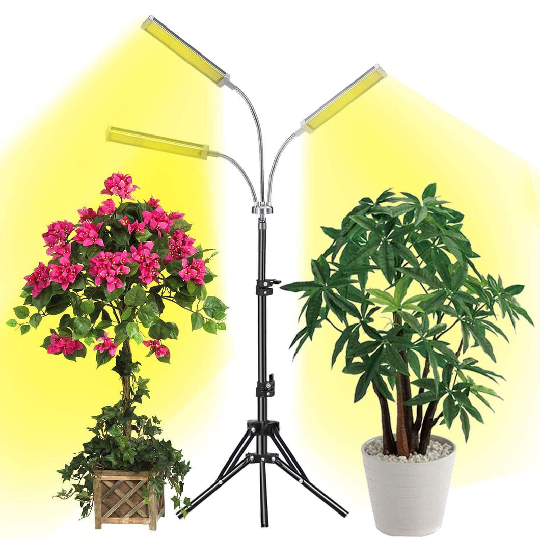 LED Indoor Grow Light with Stand,3-Head Sunlike Full Spectrum 150W 315 LEDS Plant Light (6031815278748)