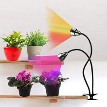 Load image into Gallery viewer, LED Grow Light for Indoor Plants,Full Spectrum Dual Head Desk Clip Plant Light for Seedling Blooming,Adjustable Gooseneck & Timer Setting 3H/9H/12H,3 Color Modes (6031698821276)