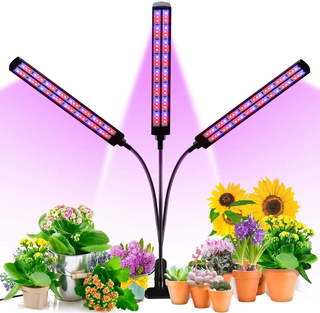 LED Plant Grow Light, 70W Red Blue Spectrum Grow Lights for Indoor Plants with Desk Clip, Auto ON/Off 3/6/12H Timer, 6 Dimmable Level, Adjustable Gooseneck (6099379749020)