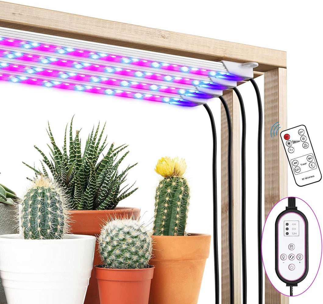 Grow Light Strip, 40W 192LED Plant Light with Remote Controller, 4/8/12H Timer Auto ON/Off, 10 Dimmable Levels& 3 Spectral Modes, Grow Lights for Indoor Plants Full Spectrum with 9.45ft Cord (6099359269020)