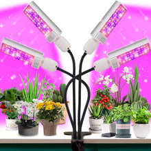 Load image into Gallery viewer, LED Grow Light for Plant- 4 Head 96W Full Spectrum for Grow lamp with 176 Beads.More Stronger Adjustable gooseneck, 3/6/12H Timer, 6 dimmable Level,4 Switch Modes for Indoor Plants Growth (6063636447388)