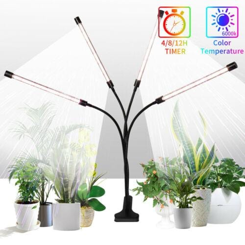 4 Head LED Plant Grow Light Growing Plants Flower Indoor Lamp Promote Growth (5931431624860)