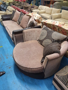 Suite - Sofa + Swivel + Pouffe