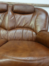 Load image into Gallery viewer, Sofa - 3 Seat Leather Brown