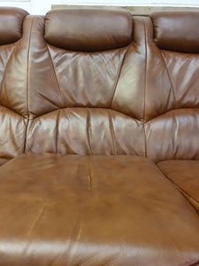 Sofa - 3 Seat Leather Brown