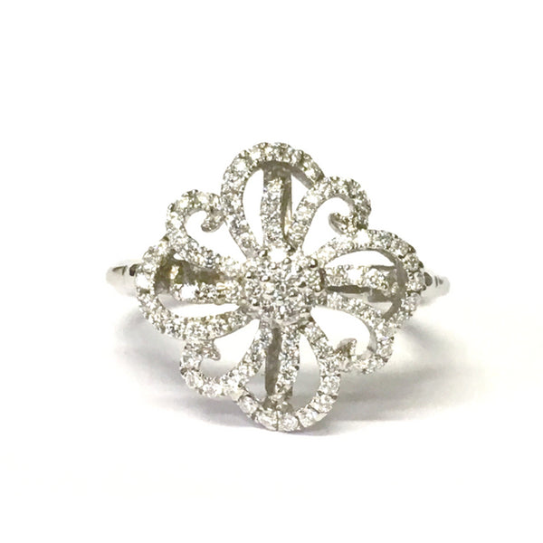 Preowned Hearts on Fire White Gold Diamond Dress Ring