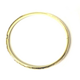 Preowned Yellow Gold Hammered Hinge Bracelet